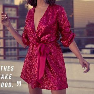 Express x Olivia Culpo Hot Pink Dress